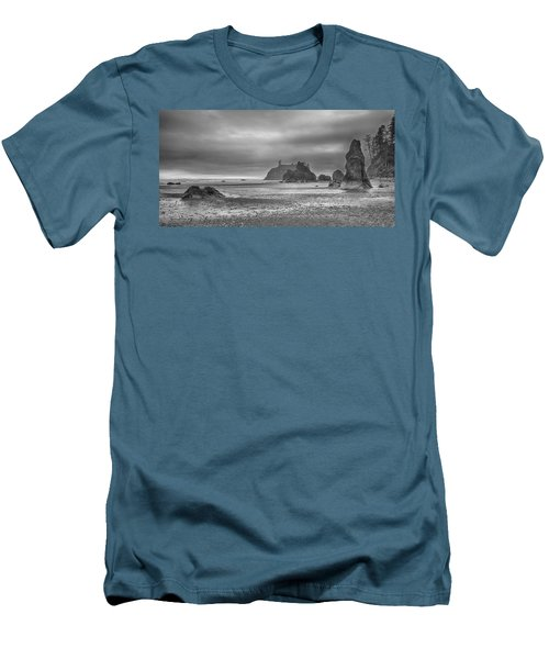 Beauty In Grey Men's T-Shirt (Slim Fit) by James Heckt