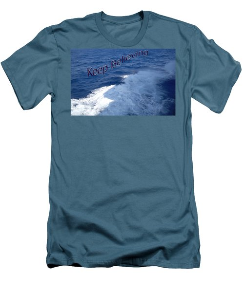 Men's T-Shirt (Slim Fit) featuring the photograph Believe by Aimee L Maher Photography and Art Visit ALMGallerydotcom