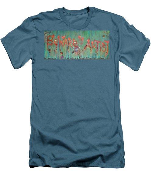 Beware Of Artist Men's T-Shirt (Athletic Fit)