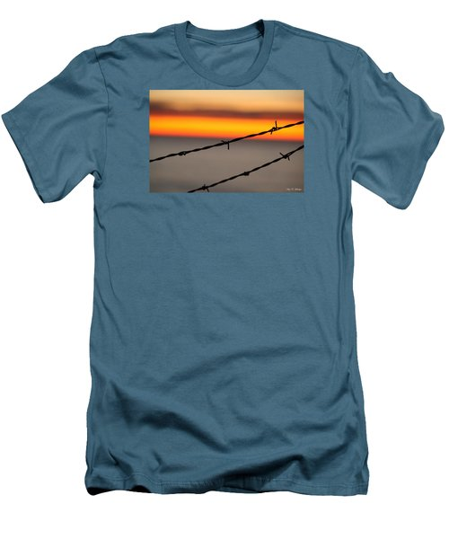 Beyond The Wire Men's T-Shirt (Slim Fit) by Amy Gallagher