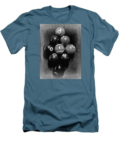 Billiards Art - Your Break - Bw  Men's T-Shirt (Athletic Fit)
