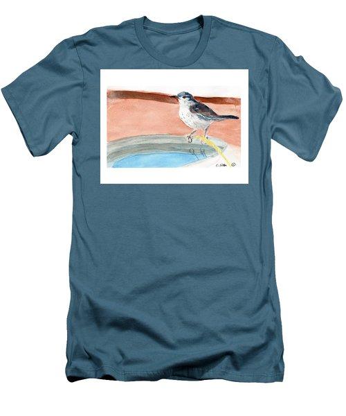 Bird Bath Men's T-Shirt (Slim Fit) by C Sitton
