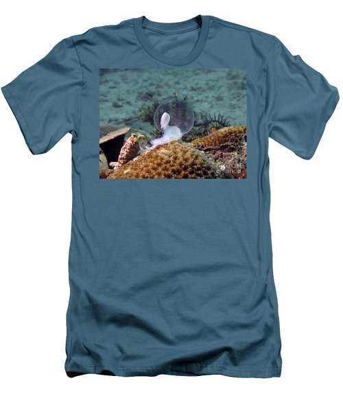 Men's T-Shirt (Slim Fit) featuring the photograph Birth Of Marine Cuttlefish by Sergey Lukashin