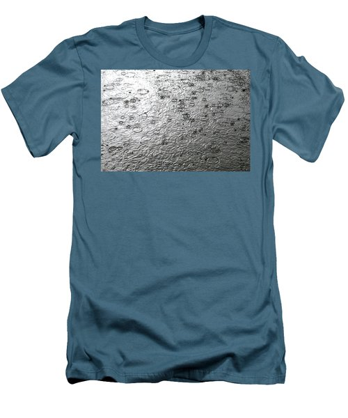 Black And White Rain Men's T-Shirt (Athletic Fit)