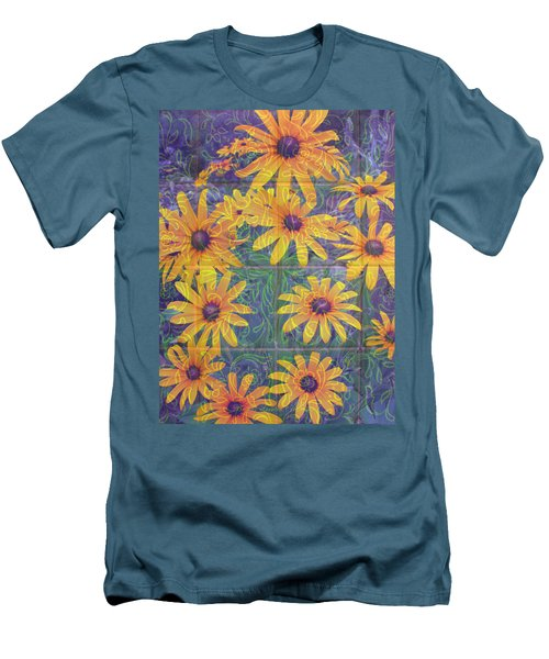Men's T-Shirt (Slim Fit) featuring the photograph Black-eyed Susan Squared by Brooks Garten Hauschild