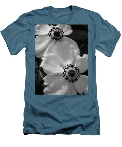 Men's T-Shirt (Slim Fit) featuring the photograph Black On White by Cheryl Hoyle