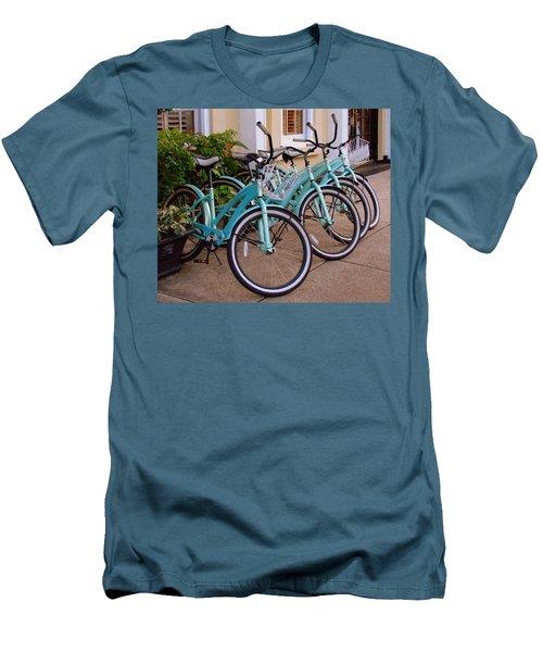 Blue Bikes Men's T-Shirt (Slim Fit) by Rodney Lee Williams