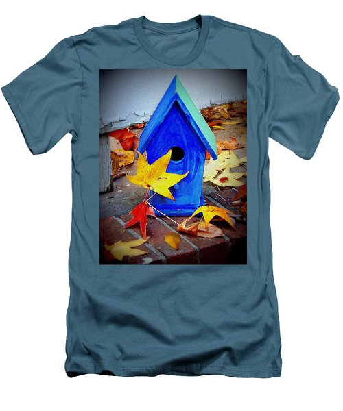 Men's T-Shirt (Slim Fit) featuring the photograph Blue Bird House by Rodney Lee Williams