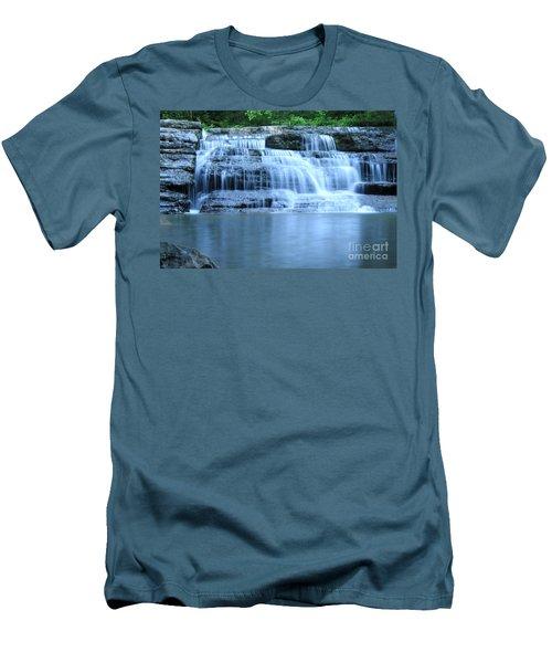 Blue Falls Men's T-Shirt (Slim Fit) by Melissa Petrey