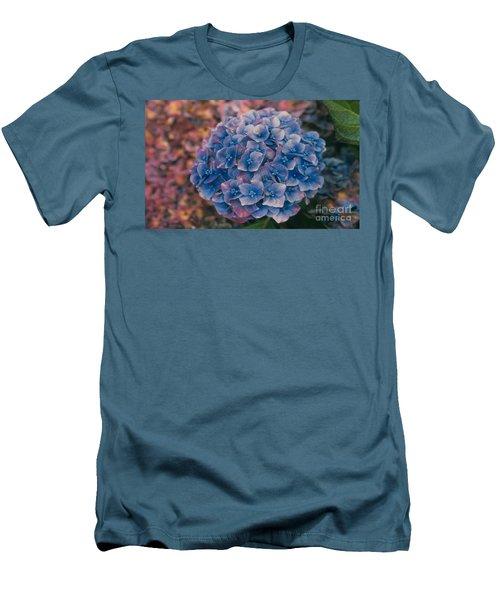 Blue Hydrangea Men's T-Shirt (Athletic Fit)