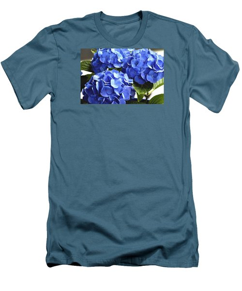 Blue Hydrangea Men's T-Shirt (Athletic Fit)
