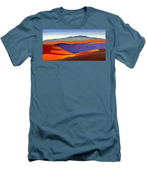 Blue Ridge Mountains East Fall Art Abstract Men's T-Shirt (Athletic Fit)