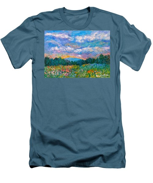 Blue Ridge Wildflowers Men's T-Shirt (Athletic Fit)