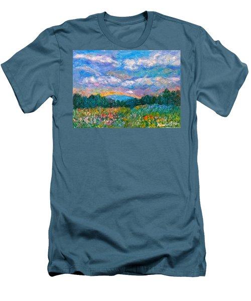Blue Ridge Wildflowers Men's T-Shirt (Slim Fit) by Kendall Kessler