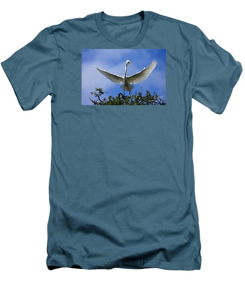 Men's T-Shirt (Slim Fit) featuring the photograph Blue Sky Landing by John F Tsumas