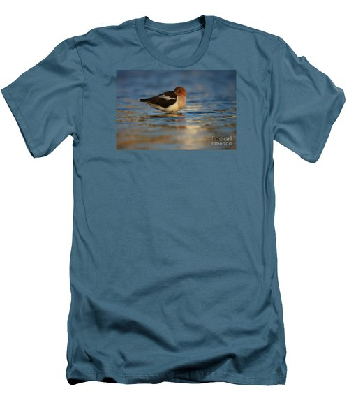 Men's T-Shirt (Slim Fit) featuring the photograph Blue Solitude by John F Tsumas