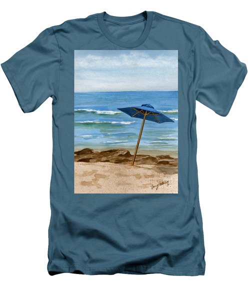 Blue Umbrella Men's T-Shirt (Athletic Fit)