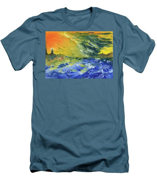 Blue Waves Men's T-Shirt (Athletic Fit)