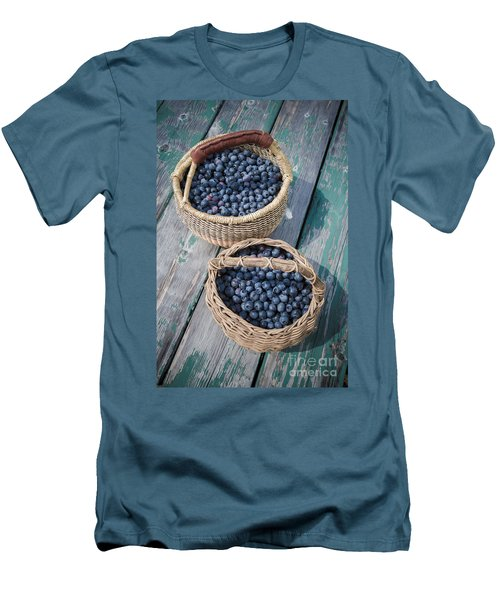 Blueberry Baskets Men's T-Shirt (Slim Fit) by Edward Fielding