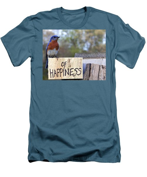 Men's T-Shirt (Slim Fit) featuring the photograph Bluebird Of Happiness by John Crothers