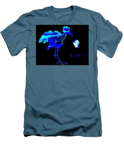 Bluebird Watching Men's T-Shirt (Slim Fit) by Hartmut Jager