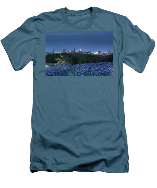 Bluebonnet Twilight Men's T-Shirt (Athletic Fit)