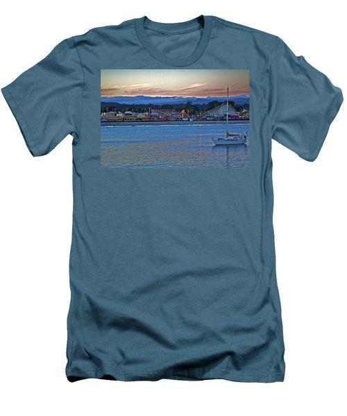 Boat At Dusk Santa Cruz Boardwalk Men's T-Shirt (Athletic Fit)