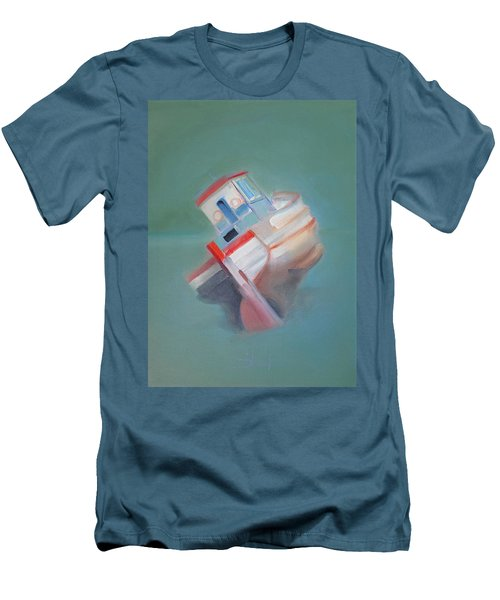 Men's T-Shirt (Slim Fit) featuring the painting Boat Retired  Tavira by Charles Stuart