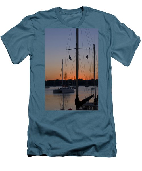 Boats At Beaufort Men's T-Shirt (Athletic Fit)