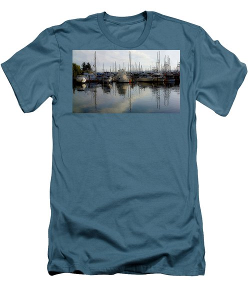 Men's T-Shirt (Slim Fit) featuring the photograph Boats At Marina On Liberty Bay by Greg Reed