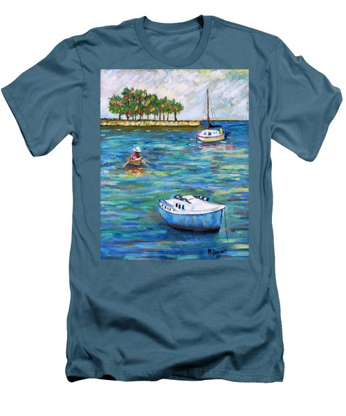 Boats At St Petersburg Men's T-Shirt (Athletic Fit)
