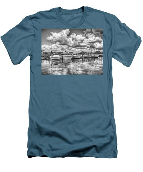 Men's T-Shirt (Slim Fit) featuring the photograph Boats by Howard Salmon