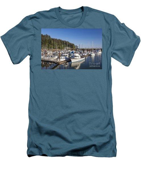 Boats Moored At Charleston Marina Men's T-Shirt (Athletic Fit)