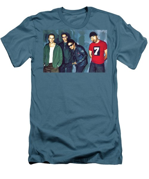 Bono U2 Artwork 5 Men's T-Shirt (Athletic Fit)