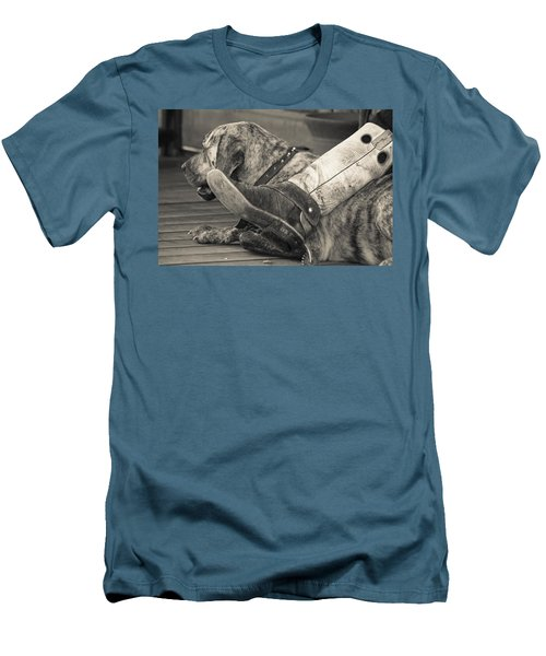 Men's T-Shirt (Slim Fit) featuring the photograph Boot Scootin by Steven Bateson