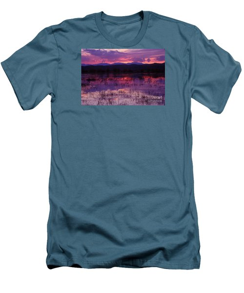 Bosque Sunset - Purple Men's T-Shirt (Athletic Fit)