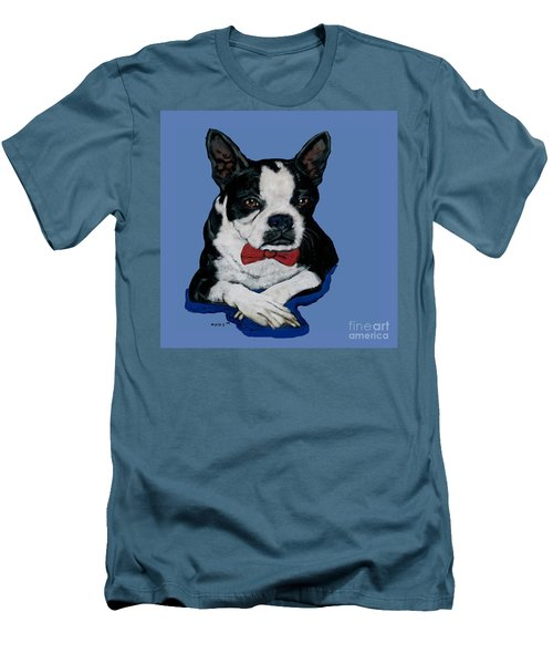 Boston Terrier With A Bowtie Men's T-Shirt (Athletic Fit)