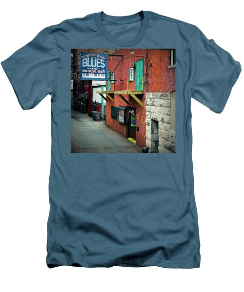 Bourbon Street Blues Men's T-Shirt (Slim Fit) by Linda Unger