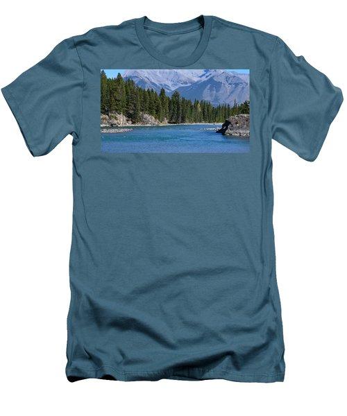 Bow River  Men's T-Shirt (Slim Fit) by Cheryl Miller
