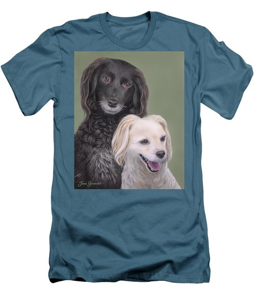 Men's T-Shirt (Slim Fit) featuring the painting Brea And Randy by Jane Girardot