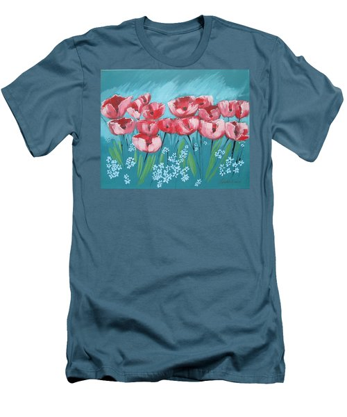 Brezzy Poppies Men's T-Shirt (Athletic Fit)
