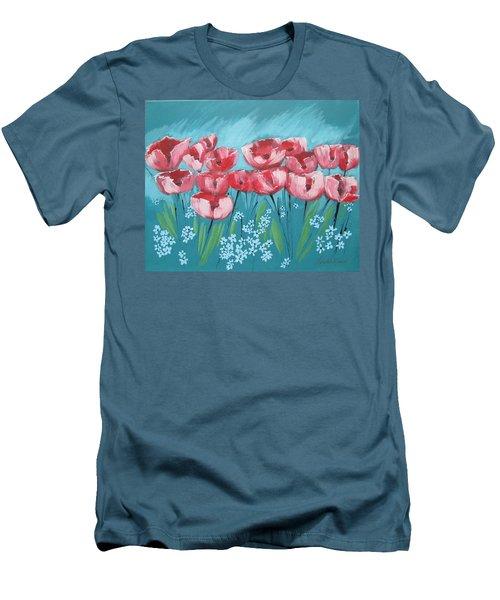 Brezzy Poppies Men's T-Shirt (Slim Fit)