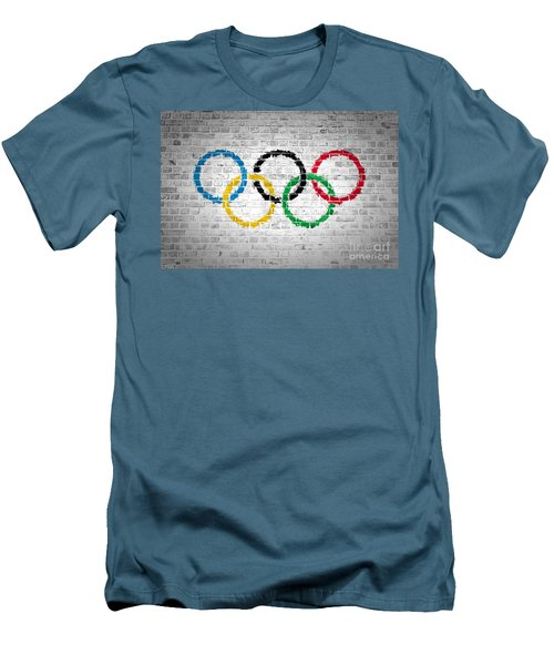 Brick Wall Olympic Movement Men's T-Shirt (Athletic Fit)