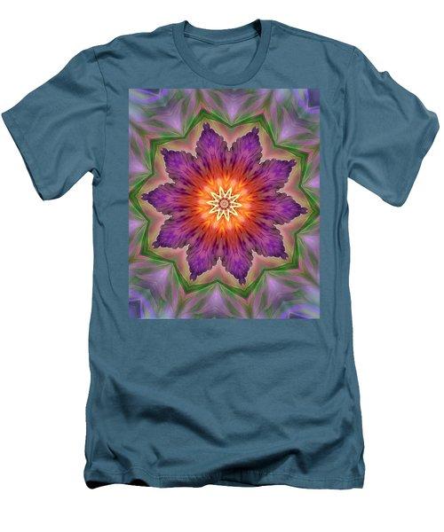 Men's T-Shirt (Slim Fit) featuring the digital art Bright Flower by Lilia D