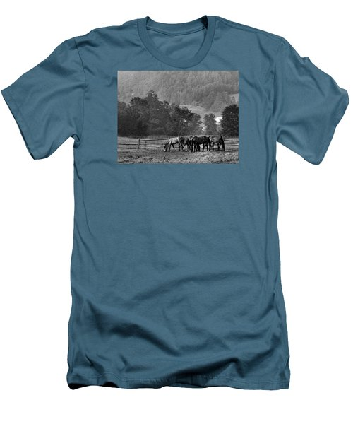 Men's T-Shirt (Slim Fit) featuring the photograph Broodmares by Joan Davis