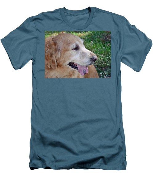 Men's T-Shirt (Slim Fit) featuring the photograph Buffie by Lisa Phillips
