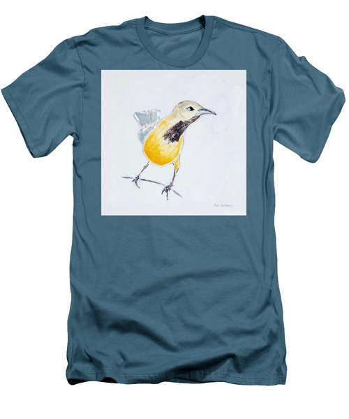 Men's T-Shirt (Athletic Fit) featuring the painting Bullock's Oriole No 1 by Ben Gertsberg