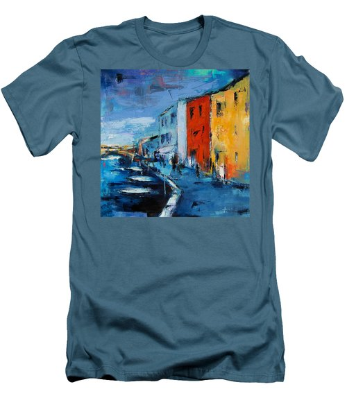 Burano Canal - Venice Men's T-Shirt (Athletic Fit)