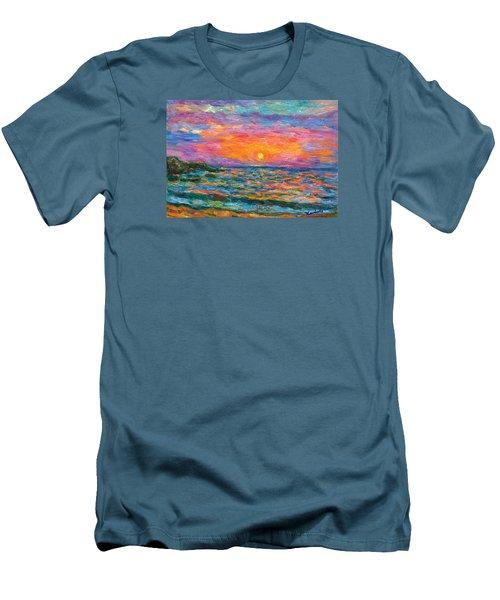 Burning Shore Men's T-Shirt (Slim Fit) by Kendall Kessler