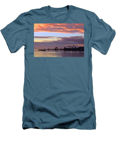 Burning Sky Men's T-Shirt (Slim Fit) by Leticia Latocki